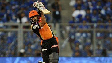 Ravi Bopara drills a drive