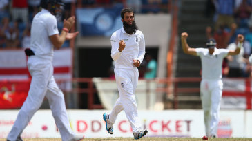 Moeen Ali finished off the innings with two lbws