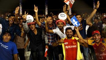 Fans enjoy the IPL game