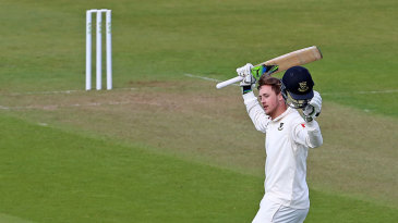 Oliver Robinson scored a remarkable century on his first-class debut