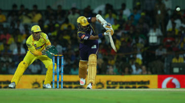 Robin Uthappa flicks it for six
