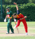 Simon Cook in action, HKCC v. Ch. Auto Pakistan Association at Hong Kong Cricket Club. 26th April 2015
