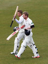 Scott Borthwick and Paul Collingwood completed the run chase, Durham v Sussex, County Championship, Division One, Chester-le-Street, 4th day, April 29, 2015