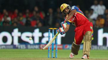 Sarfaraz Khan hits out during his 21-ball 45