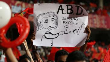 This fan couldn't have put it better about AB de Villiers' batting
