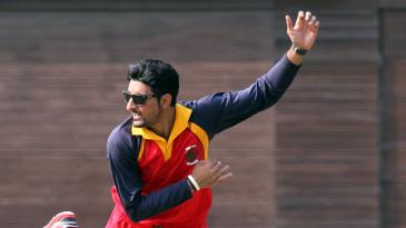 Nizakat Khan bowling