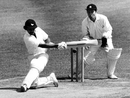 Gehan Mendis attempts a sweep, Middlesex v Sussex, Lord's, May 29, 1978