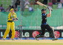 Nicola Browne goes for the big hit, Australia v New Zealand, Women's World T20, Group A, Sylhet, March 23, 2014