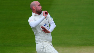 Chris Rushworth was the most-used seamer in the opening two sessions