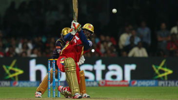 Chris Gayle smokes it down the ground