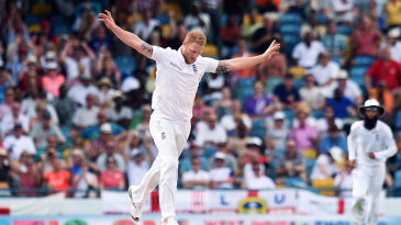 Ben Stokes removed Jason Holder in his first over