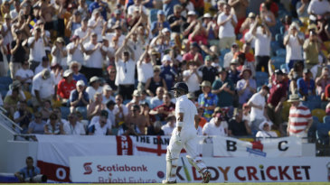 Jonathan Trott leaves the field