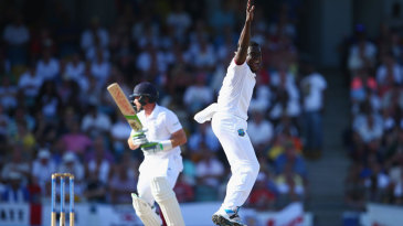 Jerome Taylor won an lbw decision against Ian Bell
