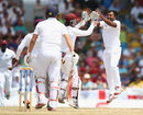 Veerasammy Permaul struck in his first over, West Indies v England, 3rd Test, Bridgetown, 3rd day, May 3, 2015