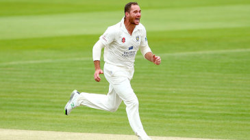 John Hastings helped turn the match with three wickets in 11 balls