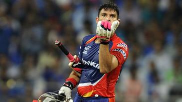 Yuvraj Singh celebrates his second half-century this IPL season