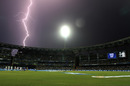 Thunder showers halted play during the second innings, Mumbai Indians v Delhi Daredevils, IPL 2015, Mumbai, May 5, 2015