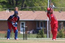 Nitish Kumar drives handsomely, United States of America v Canada, ICC Americas Regional T20, Indianapolis, May 5, 2015