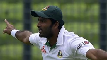 Shahadat Hossain celebrates taking a catch