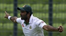 Shahadat Hossain celebrates taking a catch, Bangladesh v Pakistan, 2nd Test, Mirpur, 1st day, May 6, 2015
