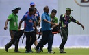 Shahadat Hossain is stretchered off the field, Bangladesh v Pakistan, 2nd Test, Mirpur, 1st day, May 6, 2015
