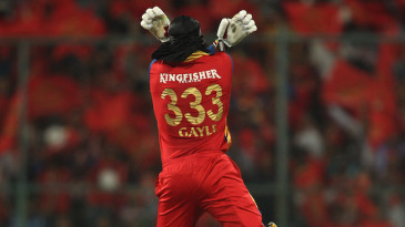 Chris Gayle reached his century in 46 balls