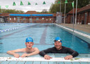 Tim Wigmore and Matthew Hoggard at London Fields Lido, May 5, 2015