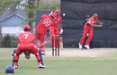 Rizwan Cheema hits Stefan Kelly back over his head for six, Bermuda v Canada, ICC Americas Regional T20, Indianapolis, May 4, 2015
