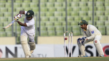 Imrul Kayes was done in by Yasir Shah's third delivery