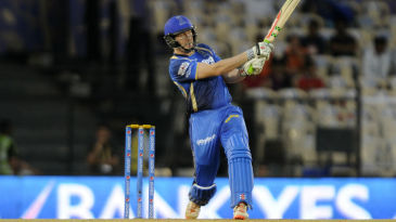 James Faulkner hits out during his 19-ball 30