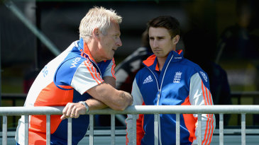 Peter Moores alongside England's latest captain James Taylor