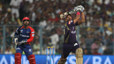 Yusuf Pathan dispatches the ball for six