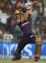Johan Botha drives through the off side, Kolkata Knight Riders v Delhi Daredevils, IPL 2015, Kolkata, May 7, 2015