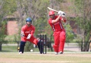 Jimmy Hansra drives through the off side, Bermuda v Canada, ICC Americas Region Division One Twenty20, Indianapolis, May 8, 2015