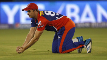 Albie Morkel takes the catch to dismiss Shikhar Dhawan