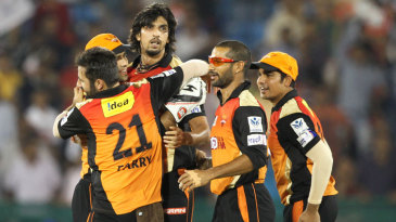 Sunrisers Hyderabad celebrate their important victory