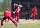 Satsimranjit Dhindsa bowls Hammad Shahid in the final over to clinch victory,Canada v United States of America, ICC Americas Regional T20, Indianapolis, May 9, 2015