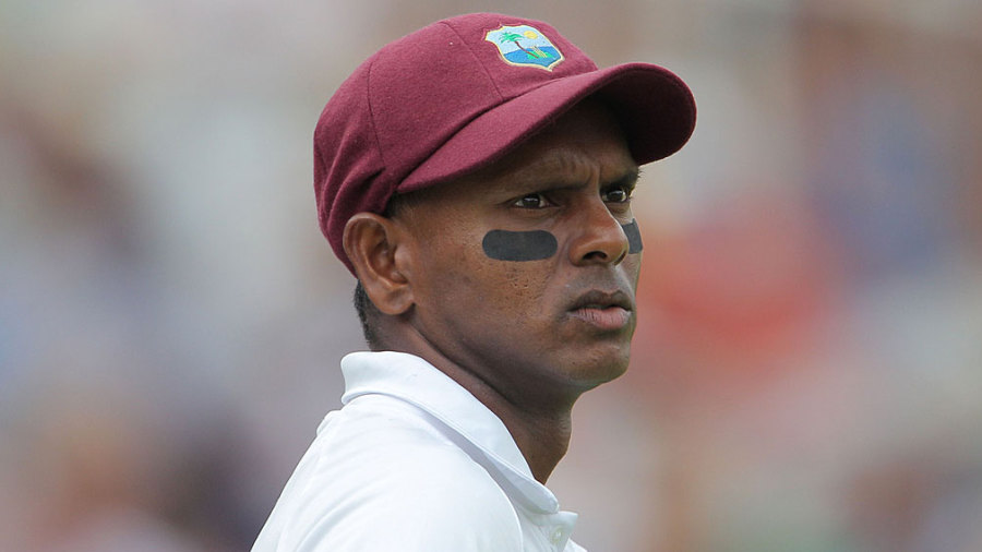 Shivnarine Chanderpaul in thought