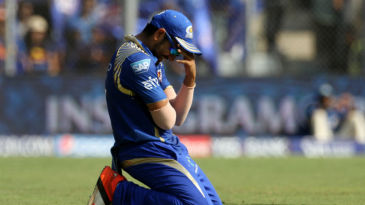 Rohit Sharma looks in despair after dropping a catch