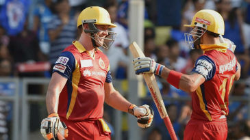 Virat Kohli congratulates AB de Villiers for his hundred