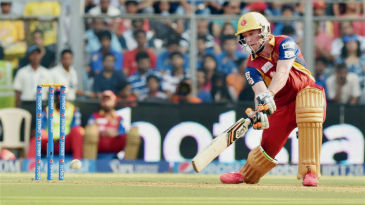 AB de Villiers carves it through the off side