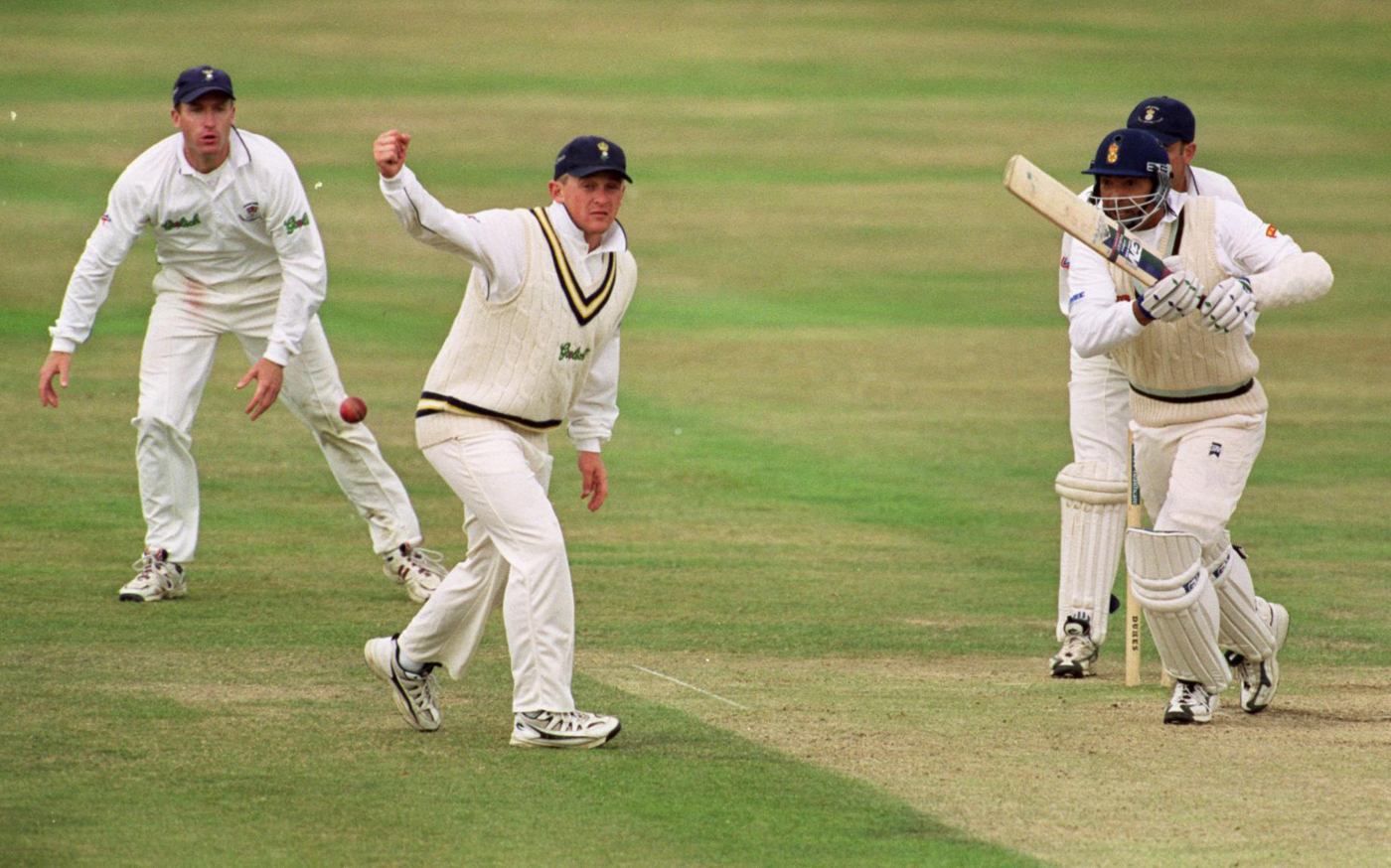 We'll take the points, you take the match: Phil DeFreitas bats for Derbyshire against Hampshire in 1999
