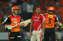 Beuran Hendricks picked up 2 for 40 in his four overs, Sunrisers Hyderabad v Kings XI Punjab, IPL 2015, Hyderabad, May 11, 2015