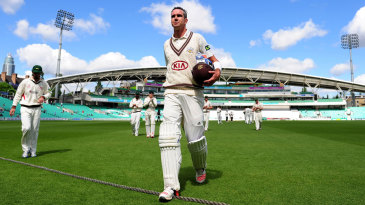 Kevin Pietersen walks off after making an unbeaten 355
