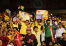 Both Yuvraj Singh and MS Dhoni had plenty of support from the crowd, Delhi Daredevils v Chennai Super Kings, IPL 2015, Raipur, May 12, 2015