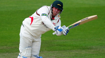 Mark Cosgrove flicks to leg during his innings of 44