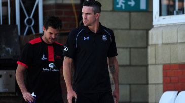 Kevin Pietersen was kept off the field by a calf problem