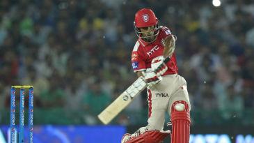 Wriddhiman Saha hits out during his 12-ball 31