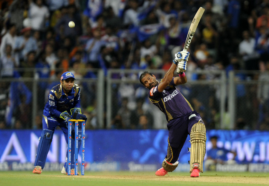 Yusuf Pathan launches the ball for six | Photo | Pepsi IPL ...