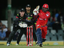 Craig Kieswetter looks on as Chris Gayle hits one down the ground,  Warriors v Lions, Ram Slam T20 Challenge, East London, November 7, 2014